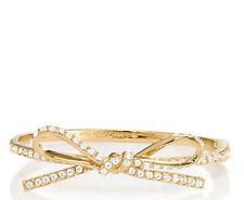 NEW kate spade new york bracelet skinny mini pave bow bangle gold