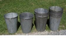 6 LARGE OLD TAPERED GALVANIZED Sap Buckets ORIGINAL Maple Syrup W@W