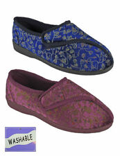 Ladies Womans Wide Touch Velcros Fastening Washable  Slippers Washable Care Home