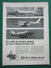 5/59 PUB PRATT & WHITNEY AIRCRAFT MOTEUR JT12 ENGINE JETSTAR SABRELINER M119 AD