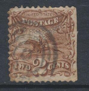 USA - 1869, 2c Gelb Oder Hellbraun Briefmarke - Gebraucht - Sg 115a 115b ( Katze