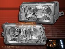 1981-1991 MERCEDES W126 S CLASS SEDAN HEADLIGHTS CHROME CLEAR 90 89 88 87 86 85