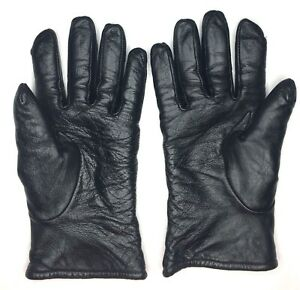 US Military Unisex  Leather Gloves Samco Black Size 7
