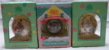 "Three Different 1994 Precious Moments 3"" Ball Christmas Ornaments"