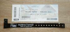 MYLENE FARMER ORIGINAL BILLET BRACELET VIP CONCERT TIMELESS TOUR 1/10/2013