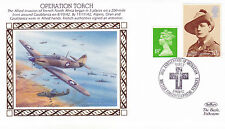 1992 WW2 50th ANNIVERSARY OPERATION TORCH BENHAM SILK COVER SHS