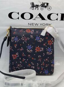 💙 NWT Coach Kitt Messenger Crossbody Wildflower FLORAL Print Midnight Navy