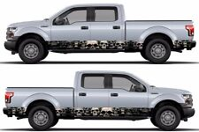 Skull skeleton Wrap rocker panel side sticker Decal fits to F150 RAM Tundra etc