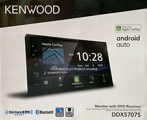"""NEW Kenwood DDX5707S 2-DIN 6.8"""" CD/DVD Car Stereo w/ CarPlay & Android Auto"""