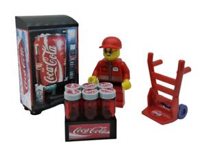 Custom MOC City Building Toys Coca Cola Set vending machine Minifigure Beverage