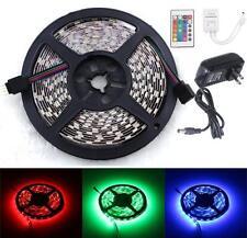 5M RGB 5050 SMD 300 LED Flexible Lamp Light Strip+24 key Remote+12V Power Supply