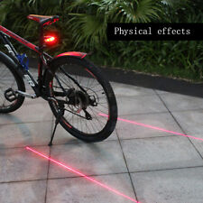 Led Rear bicycle tail bike light cycling Accessories 5 LED+2 Laser night rider