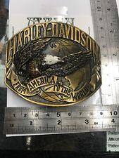 42A3)HARLEY-DAVIDSON VINTAGE BELT BUCKLE. RAINTREE  SOLID  Pewter & ORIGINAL