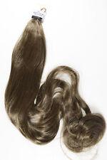 Medium Golden Brown Brunette Long Wavy Straight Ponytail Pigtail Hair Pieces