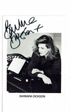 Barbara Dickson Theatre actress and singer Hand Signed  Photograph  5 x 3