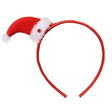 Christmas Felt Novelty Santa Hat Girls Alice Hair Band Headband **Sale**
