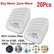 20pcs 5n11 Gas Mask Filter Cotton Filters Cartridge Mask Respirator Replacement