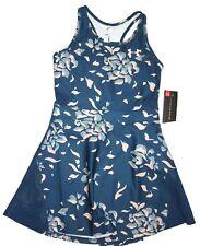 Under Armour Threadborne blue print Tennis Dress size SMALL retail $80