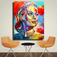 Frameless Grace Kelly Portrait Acrylic Canvas Oil Painting Living Room Home Deco