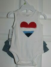 GIRLS SZ 3 MONTH 2 PC SHORT SET- TANK BODYSUIT AND RUFFLED SHORTS by CARTER'S