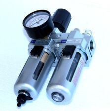 """1/2"""" Druckluft Wartungseinheit Druckminderer Öler Druckregler Polycarbonatgläser"""