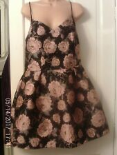 PINK AND BLACK DRESS BY RIVER ISLAND, SIZE 10
