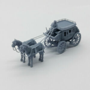 Outland Models Scenery Old West Carriage / Wagon - Stagecoach 1:87 HO Scale