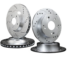 MG ZS 180 & MG ZR 160 FRONT AND REAR DRILLED & GROOVED BRAKE DISCS NEW SET OF 4