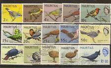 MAURITIUS 1965 BIRDS TO 10R SG317/31