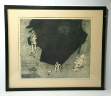 """Signed Etching Print Art  """"Absurd"""" 1976 Signed & Numbered"""