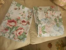 WAMSUTTA  VTG. SUPERCALE  FULL  FLAT +FITTED +  1 PILLOWCASE FLORAL