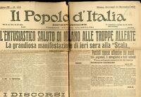 1917 WW1 prima guerra giornale Il Popolo d' Italia G 074 (soltanto prima pagina)