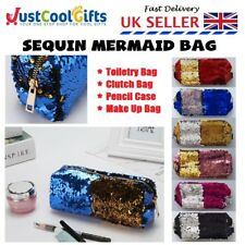 Unicorn Mermaid Make Up Bag Stocking Sequin Toiletry School Clutch Pouch UK