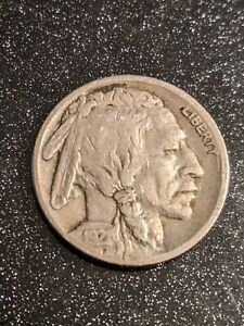 1921-S San Francisco Mint Buffalo Nickel Ch FINE-VF