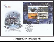 TURKEY - 2011 100th YEAR OF TURKISH AIR FORCE / AVIATION M/S FDC