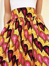 'CHLOE' African Printed Knee Length / Midi Skirt 100% Wax Cotton Handmade UK