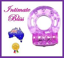 Vibrating Cock Ring - Silicone - Clear Purple