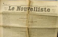Le Nouvelliste de Lyon n°7 du 7/01/1920 - Les Mines de la Sarre - Traîtés Paix