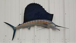 "52"" Sailfish Half Fish Mount Replica - 3 Week Production Time"