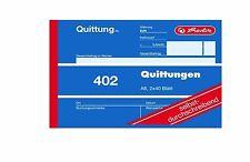 herlitz Formularbuch Quittung 402, DIN A6, 2 x 40 Blatt Quittungsblock