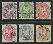 GERMANY 1861-67 Prussia Arms set of 6 Used (CV £120+)