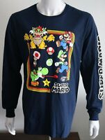 Super Mario Young Mens Graphic Tee Navy 100% Cotton T-Shirt Sizes M L