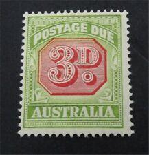 nystamps British Australia Stamp # J67 Mint OG H $60   A9y1356