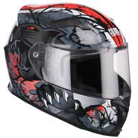 Casco Moto Integrale Demi-Jet Full Face CGM 307S PANTHER Rosso Omologato