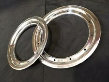 "NEW - (x4) Bead Lock Rings - 9"" Rear/10"" Front ATV - Polished Aluminum"