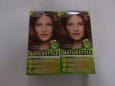 2 x NATURSTYLE Permanent Hair Colourant / Colour - DARK CHOCOLATE BLONDE 6.7