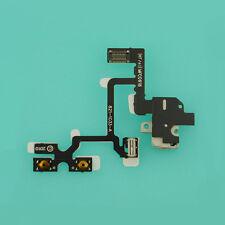 Headset Audio Jack Power Volume Button Key Flex Ribbon F Apple iPhone 4 4G White