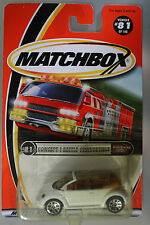 Matchbox 1:64 Scale 2000 Worldwide Wheels CONCEPT 1 BEETLE CONVERTIBLE (WHITE)