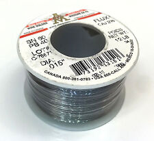 "AIM 13151 OAJ WATER-SOLUBLE CORE SOLDER 60/40, DIA .015"" 1/2LB"