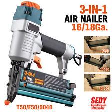 3 in 1 Quality Air Nailer Nail Gun Stapler Frame Floor Fence Furniture Pneumatic